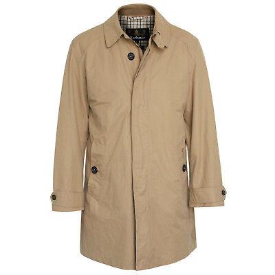 BARBOUR khaki tan trench Walpole rain jacket cotton nylon mac car coat Large