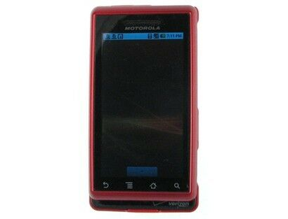 Red Snap On Hard Plastic Protector Phone Case Cover For Motorola Droid A855