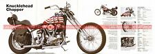 HARLEY DAVIDSON 1200 Knucklehead Chopper 1947 Fiche Moto 000517