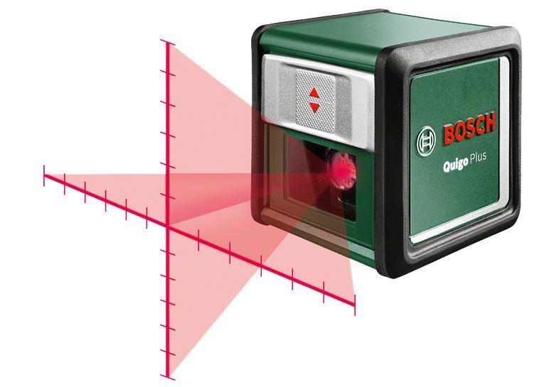 Bosch Kreuzlinien-Laser Quigo Plus - ca. 7 m, inkl. Aluminiumstativ