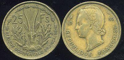 FRENCH OCCIDENTALE AFRICA etat AFRIQUE OCCIDENTALE 10 francs 1956