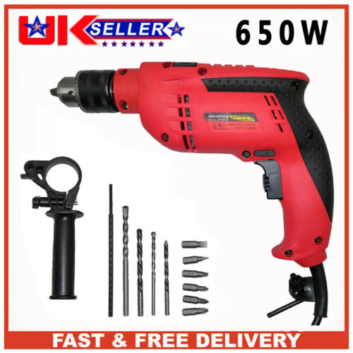 Powerful Electric Impact Drill Corded Hammer Drill Electric Screwdriver DIY Tool