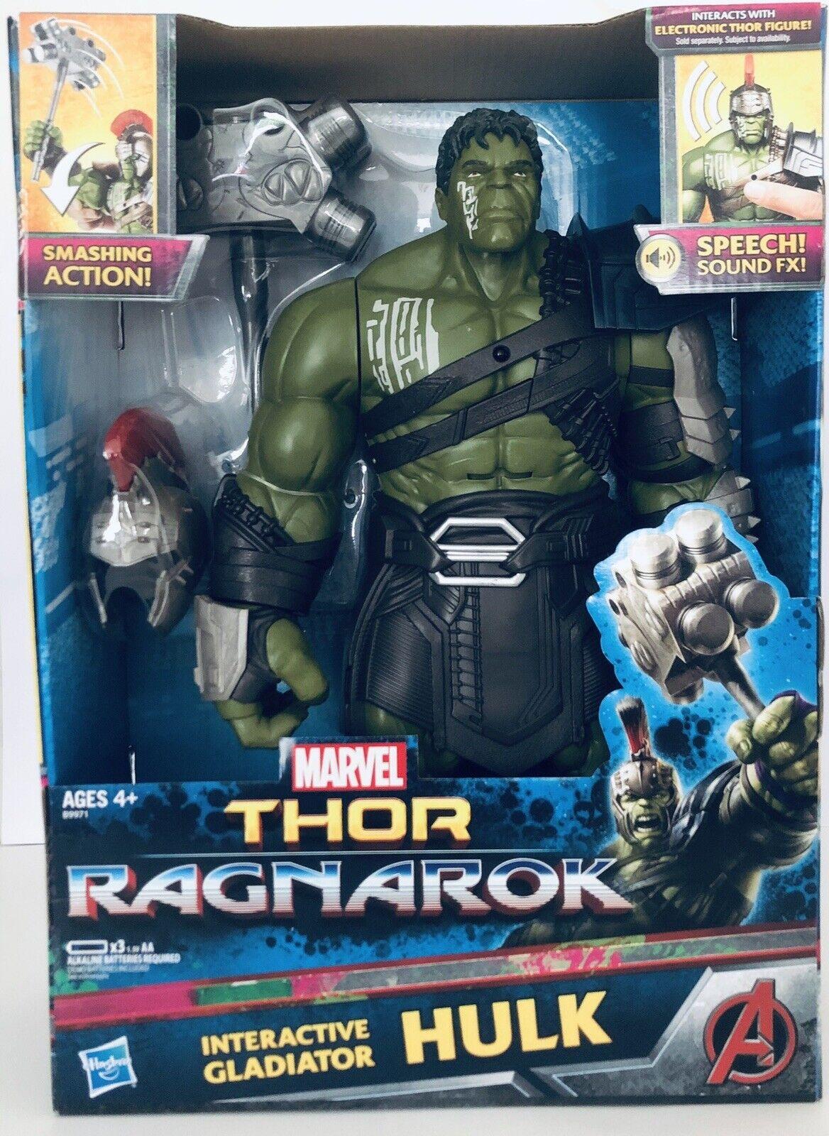 Los Vengadores Marvel Thor Ragnarok Interactivo Gladiador Hulk Nuevo