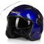 miniature 16 - Motorcycle-Helmet-Open-Face-w-Dual-Visor-Scooter-Unisex-Jet-Helmet-M-L-XL-XXL