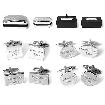 Engraved Cufflinks Cuff Links Personalised Giftbox Wedding Present Usher Bestman