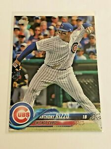 2018-Topps-Baseball-Base-Card-50-Anthony-Rizzo-Chicago-Cubs