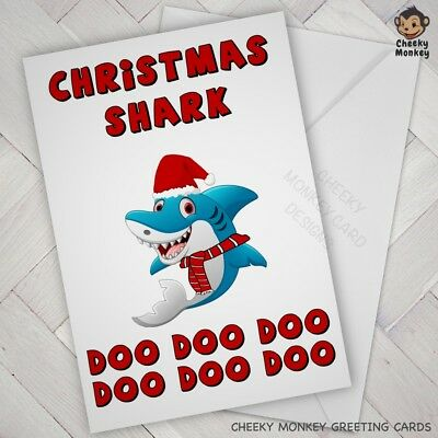 Funny CHRISTMAS CARD baby shark song son daughter male ...