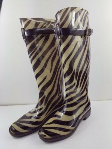 Ralph Lauren Rossalyn Brown Cream Zebra Print Rai… - image 1