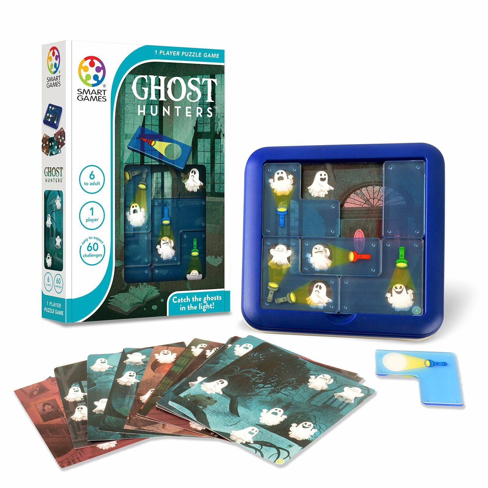 SmartGames Ghost Hunters Children Kids Educational Learning Game Puzzle Age 6+ 1