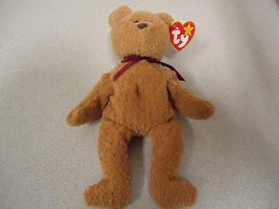 Rare Curly Bear TY Beanie Baby 1993 with 11 Errors New with Mint Tags Retired