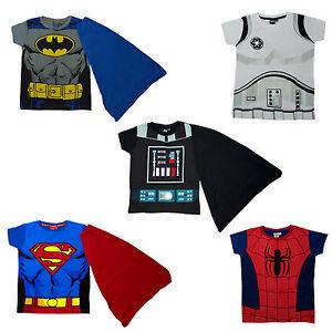 Boys-Disney-amp-Marvel-Superhero-Action-Movie-Novelty-T-Shirts