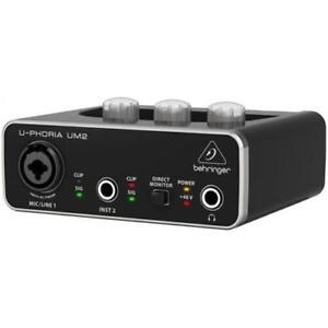 BEHRINGER UM2 U-PHORIA INTERFACCIA 2X2 USB SCHEDA AUDIO 2 IN 2 OUT PREAMPLIFICAT