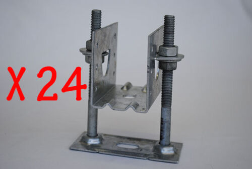 "KlevaKlip Adjustable Joist Support Hanger 1-1//2/"" 24 bkts 38mm Bolts not incl"