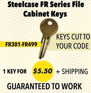 Steelcase FR series Desk and File Cabinet Keys  FR450-FR500