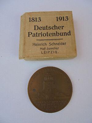 EntrüCkung 23525 Medaillie 1913 Deutscher Patriotenbund Leipzig Völkerschlacht Denkmal Ok Klar Und GroßArtig In Der Art