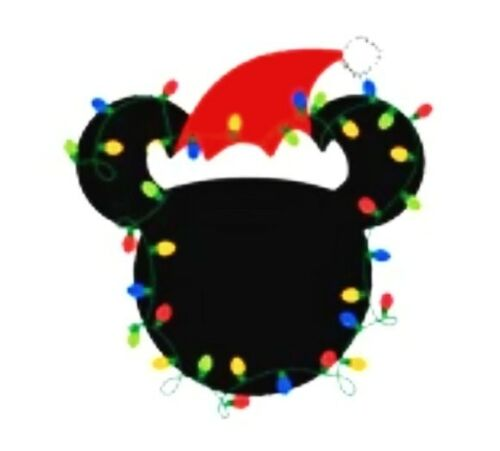 6PC Mickey Mouse Flatback Embellishment Christmas Lights Cupcake Toppers Crafts
