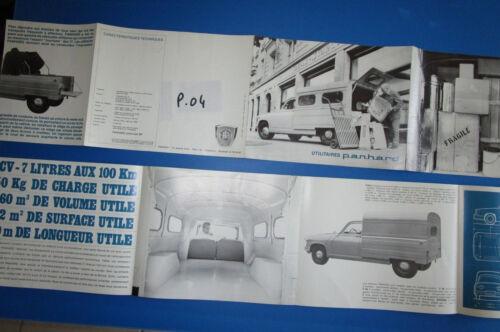 PANHARD P.04 dépliant utilitaires F50 et F65 1962-1964 environ