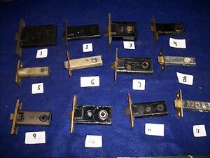 OLD-VINTAGE-ANTIQUE-FULL-MORTISE-LATCH-PASSAGE-LOCK-BOLTS-CHOICE-OF-ONE