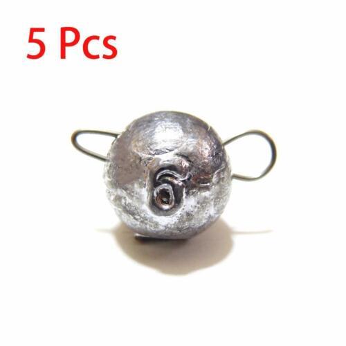 12X Jig Head Sinker Ball Fishing Weights Lead Cheburashka For Soft Lures w//