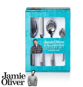 Image is loading Jamie-Oliver-Everyday-cutlery-set-16-piece-18-  sc 1 st  eBay & Jamie Oliver - Everyday cutlery set - 16 piece - 18/0 5010135943573 ...