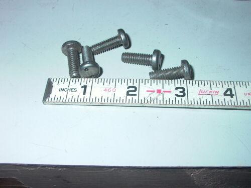 LOT OF FIVE STAINLESS STEEL PAN HEAD TAMPER RESISTANT SPANNER DR  MACHINE SCREWS