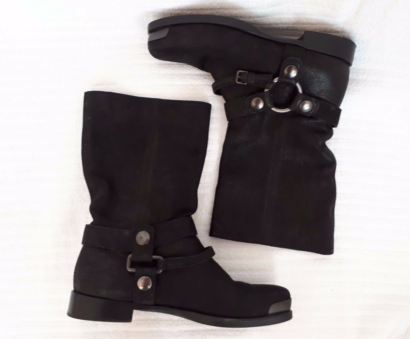 MIU MIU * Biker-Stiefel / * Boots * Gr 37 * / schwarz * Echtleder * wie neu e9b655