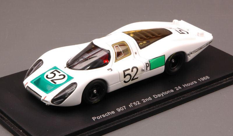 Porsche 908  52 2nd Daytona 1968  Siffert HerrhomHommes Mitter 1 43 Model s2985  qualité pas cher et top