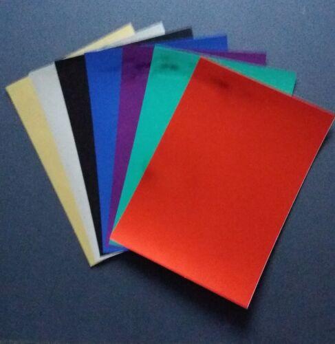 A4 Original e tarjeta tarjeta de una sola cara Espejo Artesanal Elección De Colores 270gsm