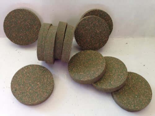 CORK RINGS RUBBERIZED GREEN 1.25 X .25 INCH  SOLID