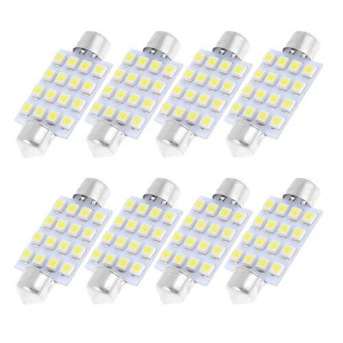 8 Pcs 41mm 16-SMD LED White Festoon Dome Light Bulbs 211-2 212-2 569 TS