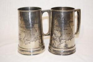 Details about Pair of Vintage Korean War 38th Parallel Map and Tiger Silver  Metal Mug