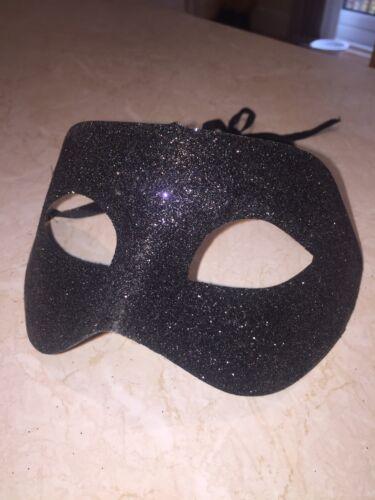 Black Glitter Masquerade Mask