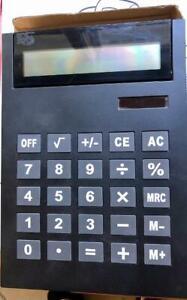 Calculator Huge Solar Powered Big Buttons Black