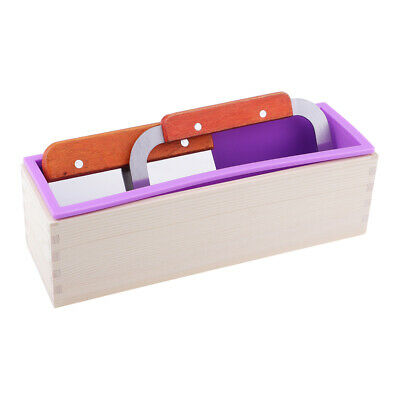 3pcs//set Rectangle Silicone Soap Mold Mould Loaf with Soap Cake Cutter Tools