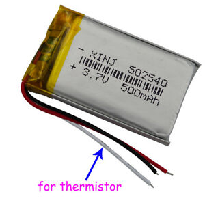 Fine 3 7V 500 Mah Polymer Li Battery 3 Wire Thermistor 502540 For Psp Gps Wiring Cloud Staixuggs Outletorg