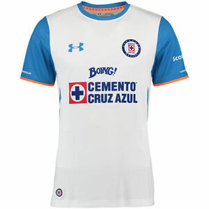 983f27d0 UA UNDER ARMOUR CRUZ AZUL AWAY JERSEY 2015/16 White/Blue. | eBay