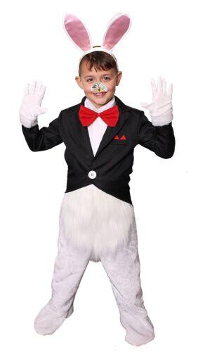 WHITE RABBIT BOY/'S LIBRO SETTIMANA Alice nel paese delle meraviglie Costume Età 4//13