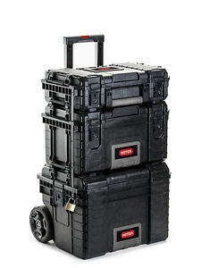 Image Is Loading Keter Rigid System Complete Wheeled Professional Tool Storage