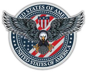 "USA Flag Eagle Badge Car Bumper Sticker Decal /""SIZES/"""