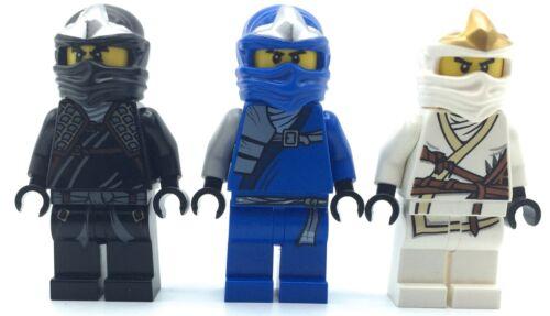 LEGO LOT OF 3 NINJAGO MINIFIGURES COLE JAY ZANE DX FIGURES GENUINE COLLECTIBLES