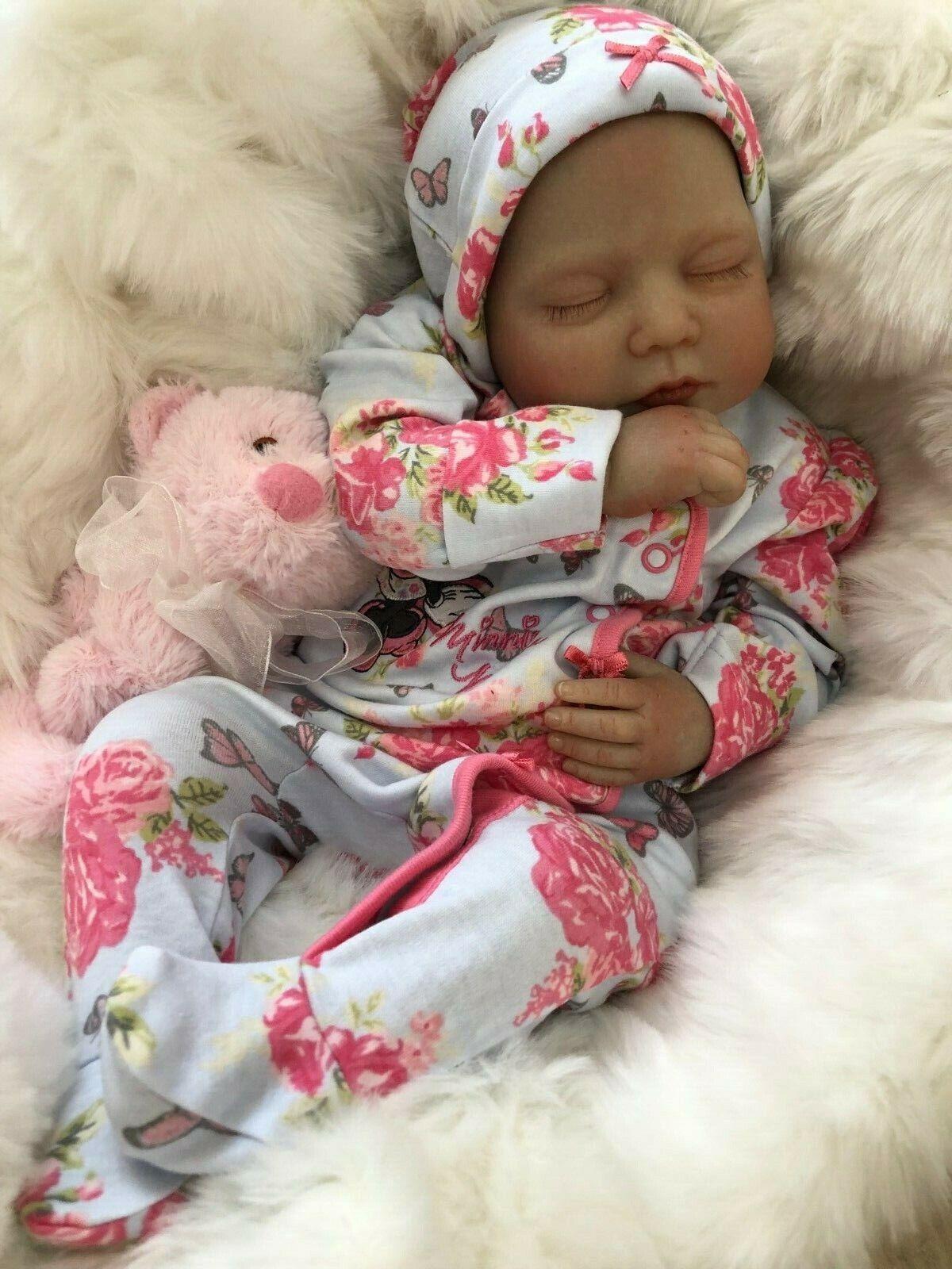 "CHERISH DOLLS ANYA FULLY REBORNED BABY FAKE BABIES REALISTIC 22"" BIG REBORN GIRL"