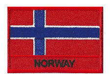 Ecusson patche drapeau patch NORWAY Norvège 70 x 45 mm brodé à coudre