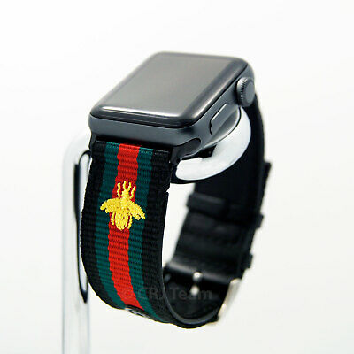 Apple Watch Band Gucci Stripe Replacement Leather Strap 38 40 42 44 Mm 1 2 3 4 5 Ebay
