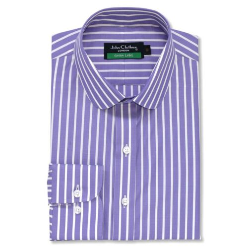 Homme Un Club Rayures Peaky Lilas Pourpres Blinders ChemisesCol Rond Serafino RjL435A