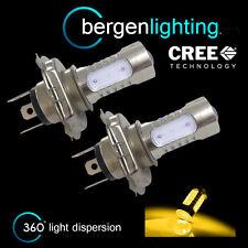 2X H4 GIALLO CREE LED ANTERIORE ABBAGLIANTE & KIT FARI XENON HM501301