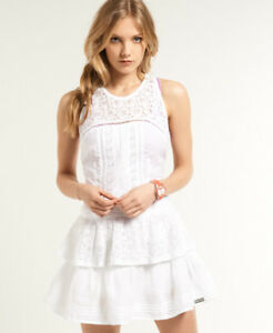 New-Womens-Superdry-Odessa-Dress-Optic-White