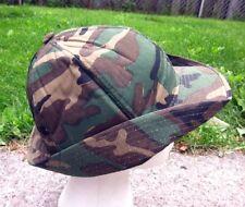 SAM JUNG green camouflage deerstalker hat Cadet style 1970s lrg hunting cap