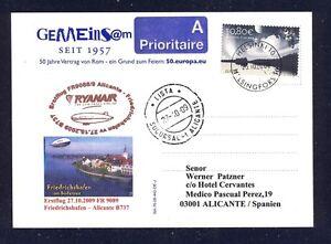 44462) Irlande Ryanair Ff Frdhfn-alicante 27.10.09 Zeppelin Nt à Partir De La Finlande-afficher Le Titre D'origine
