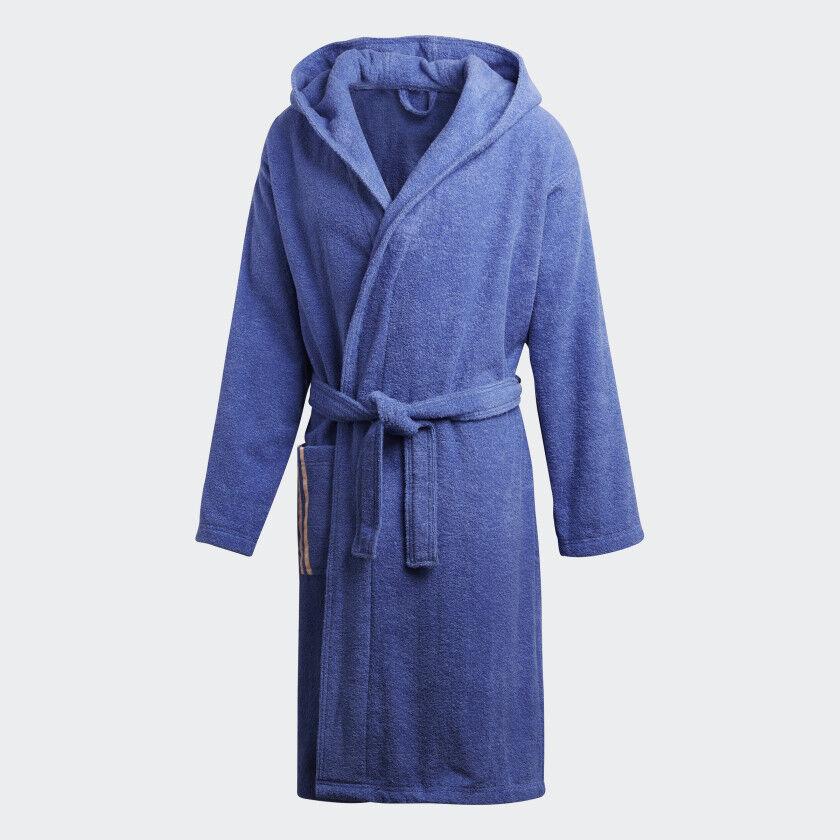Adidas Unisex Robe Sauna Coat Dressing Gown 100% Cotton, Dh2879