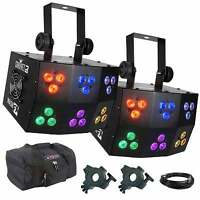 Chauvet Dj Wash Fx Rgb Led Pixel Mapping Club Wash Light Pair + Clamps + Cases on Sale